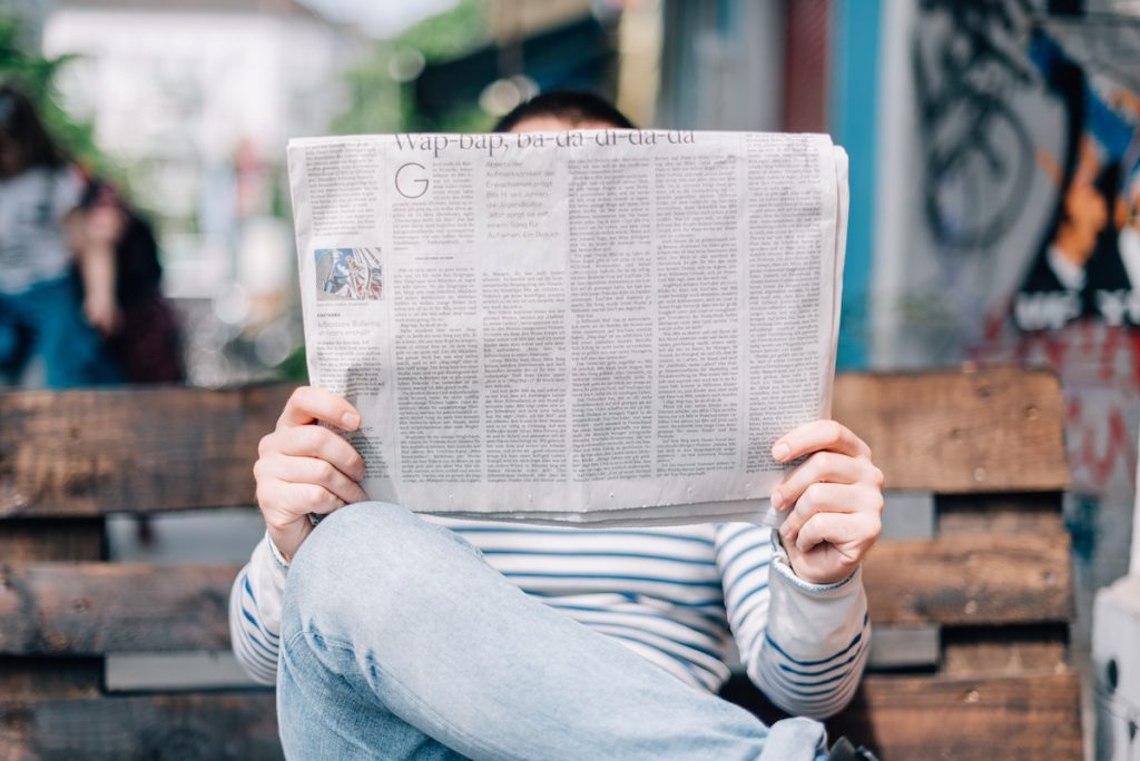 That Anxiety Guy Newsletter - Man Reading Newspaper